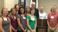 Lee Board meets Erie Community College Scholarship Recipients